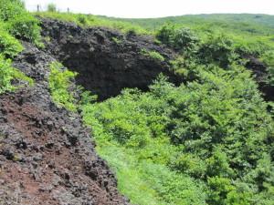 1986年三原山山腹にできた割れ目噴火口