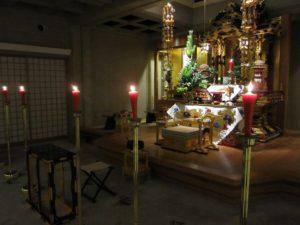 帰敬式(生前法名授与式)の本堂