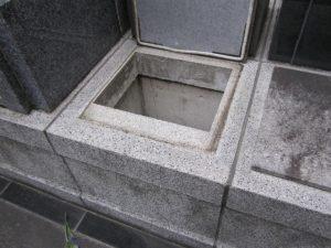 カロートの上に建墓します